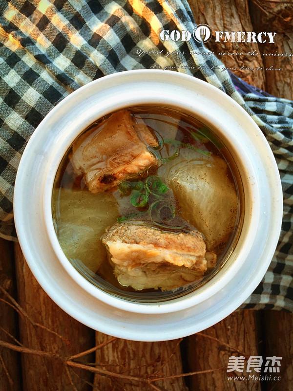 白萝卜排骨汤成品图