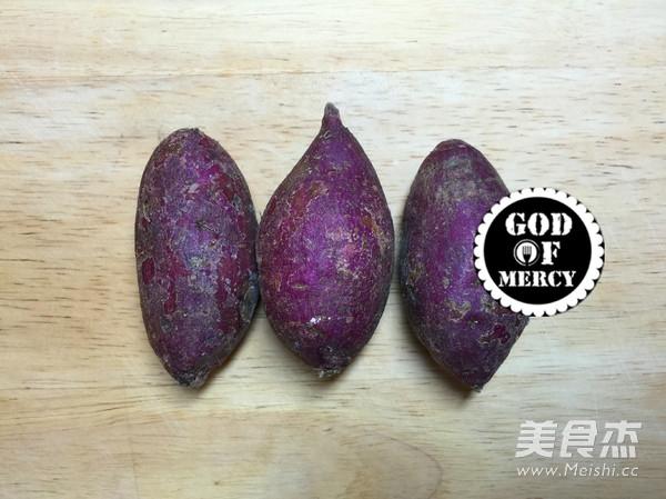 咸鲜紫薯米糊的做法图解