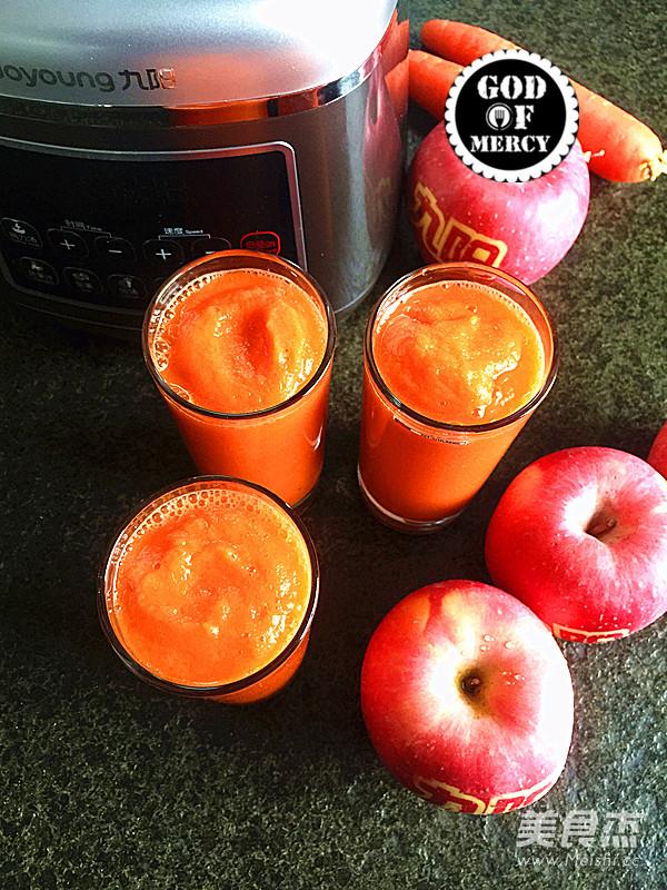 瘦身抗癌的苹果胡萝卜汁的步骤