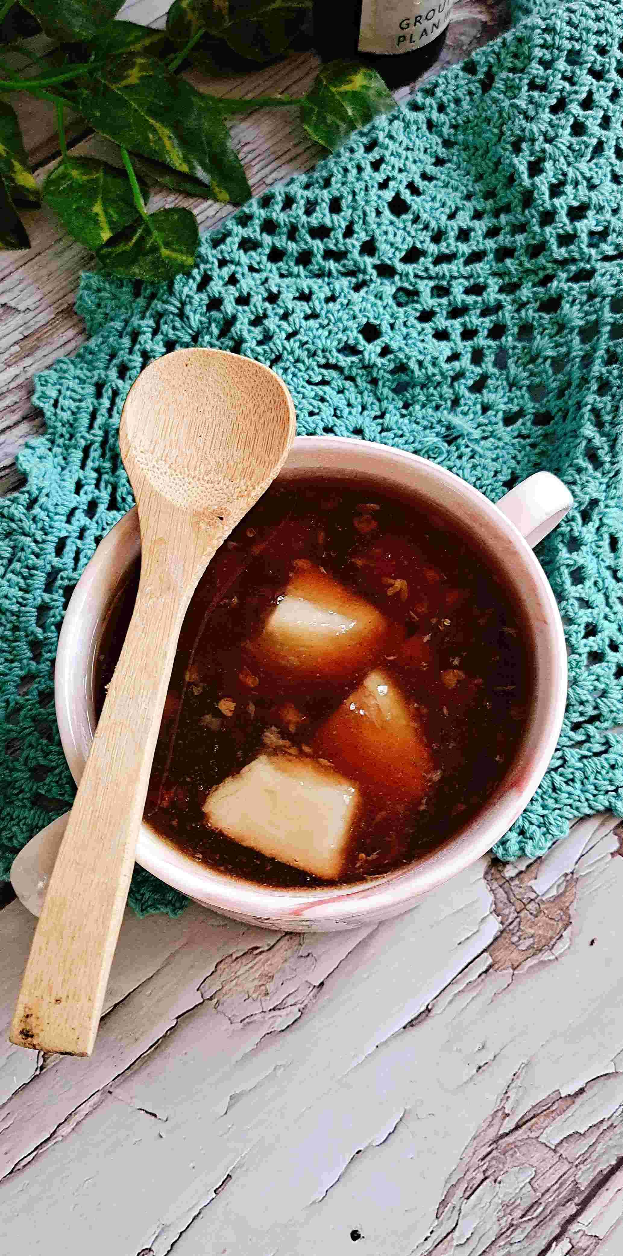 滋补脾胃,润肌肤秋冬养生少不了…桂花糖芋头成品图