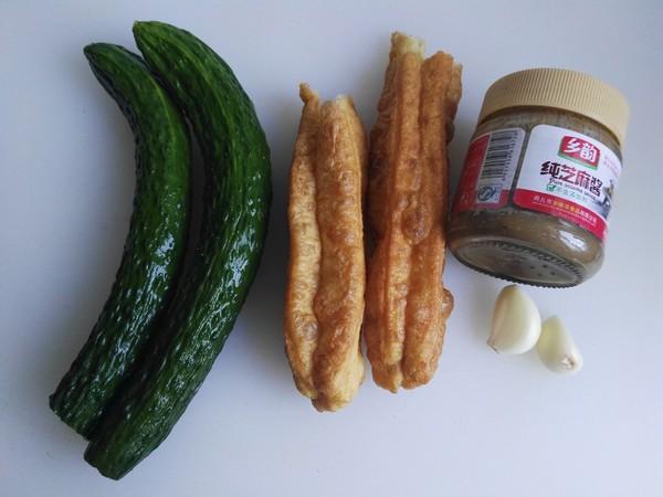麻汁黄瓜拌油条的做法大全
