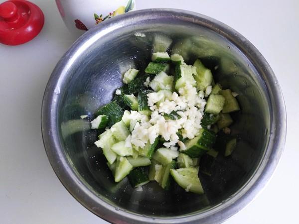 麻汁黄瓜拌油条的做法图解