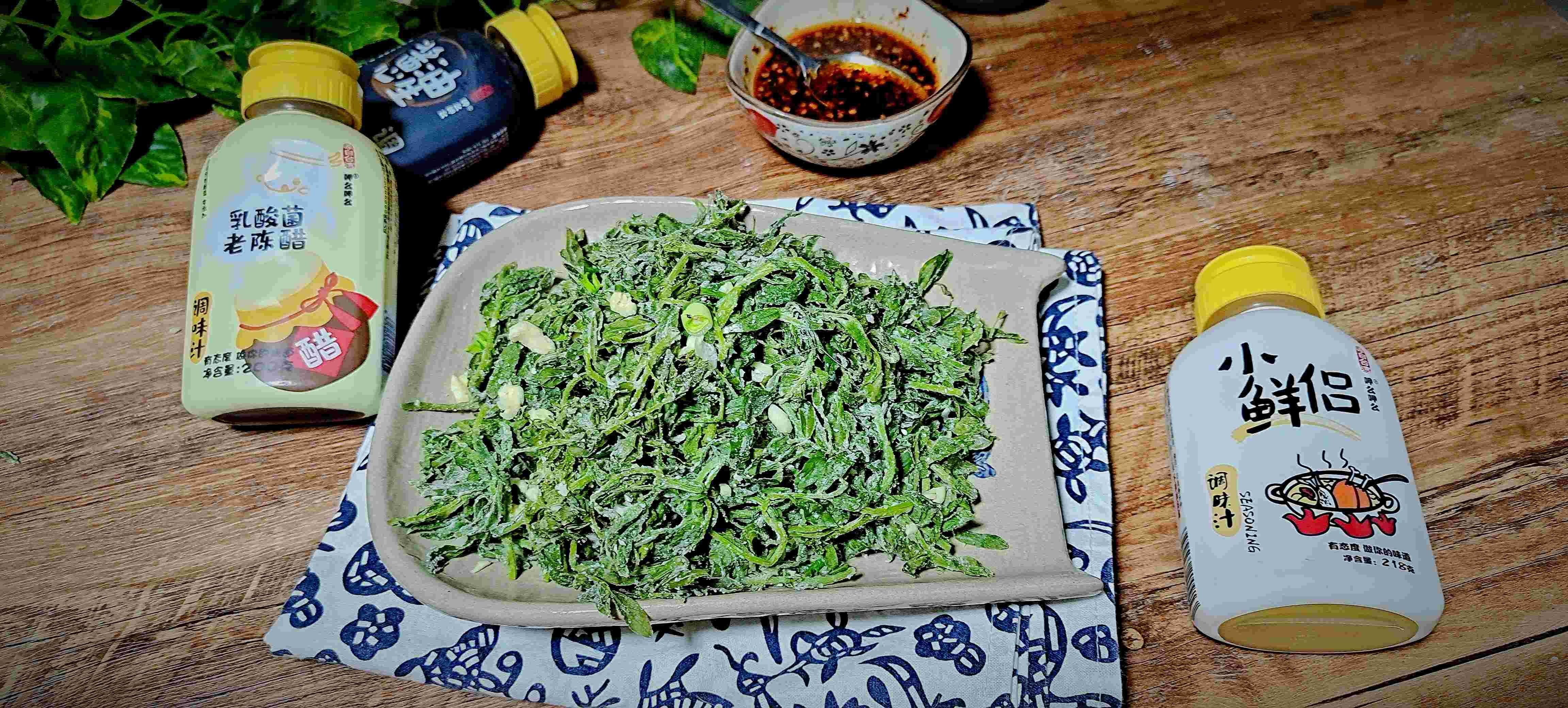 春天不可错过,野菜这样吃味道超赞…蒸豌豆苗的步骤