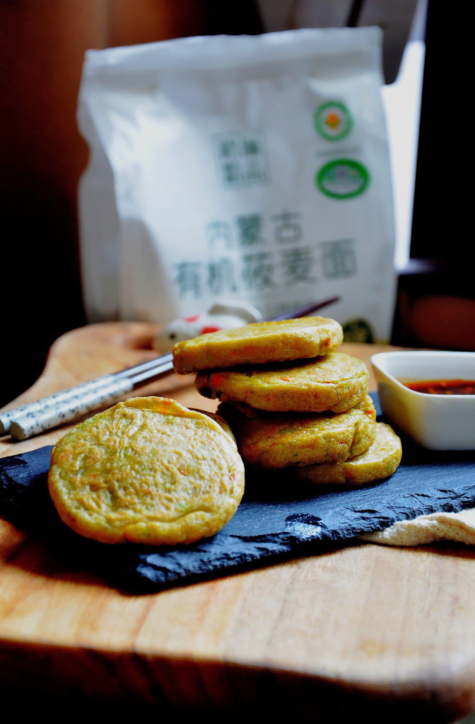 10分钟快手早餐,简单营养无负担:蔬菜莜麦早餐饼成品图