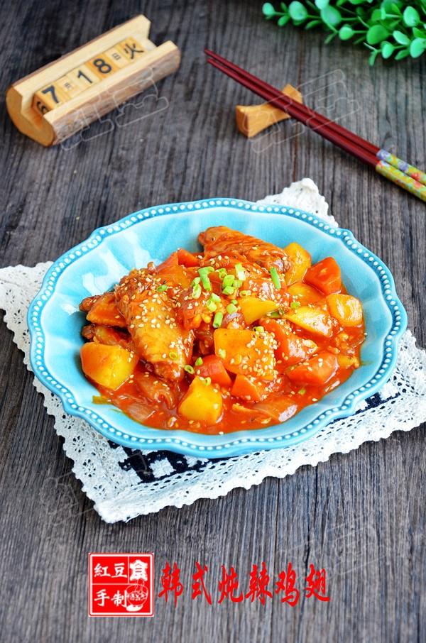 韩式辣炖鸡翅成品图