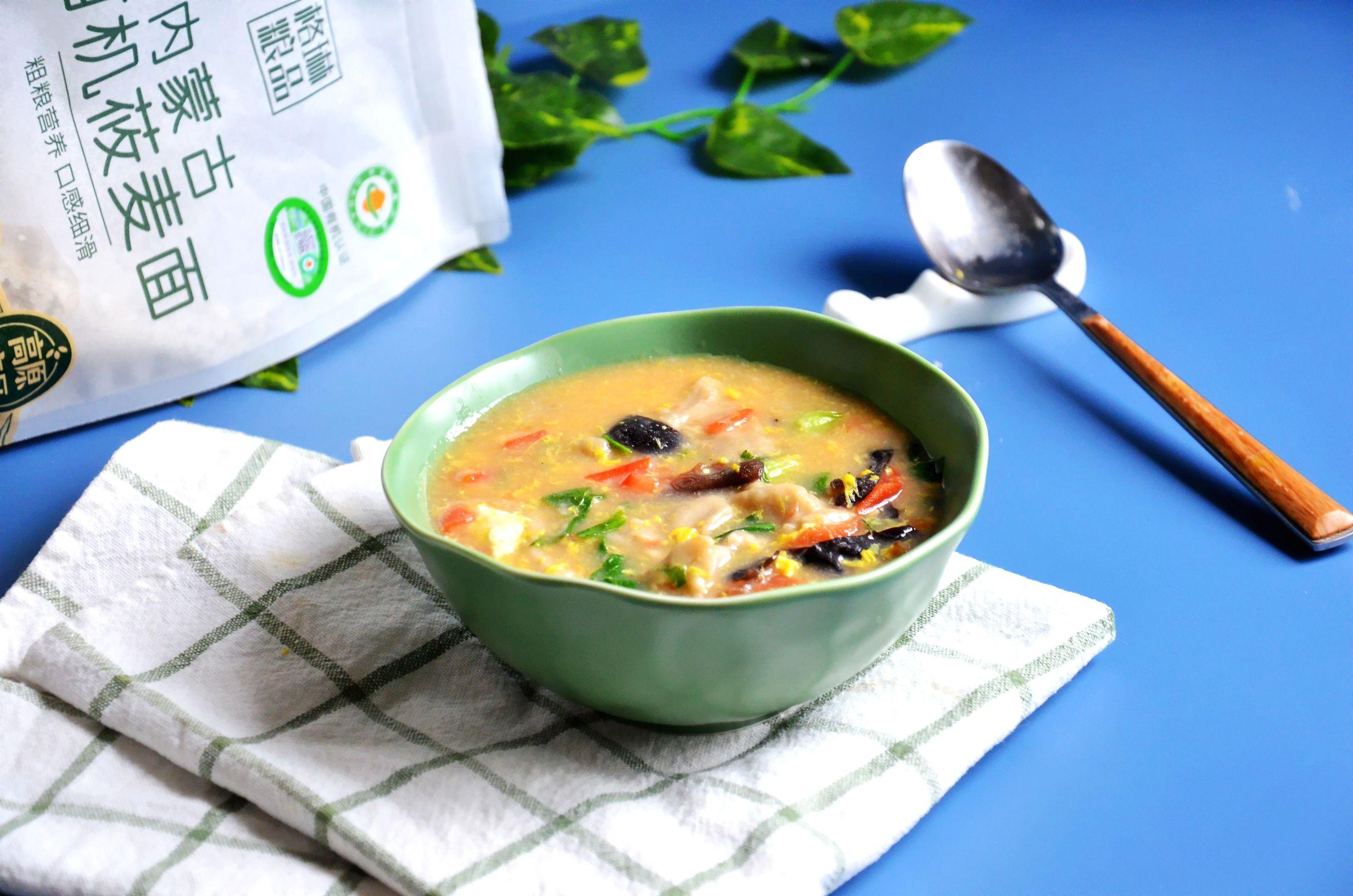 最美家常饭,怎么都吃不够~莜麦面疙瘩汤成品图
