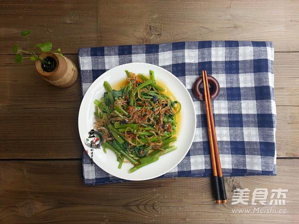 丁香鱼拌空心菜怎么做