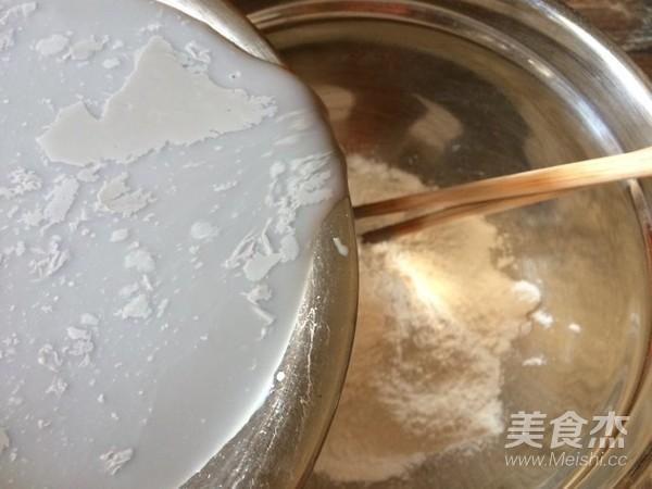 桂花蜜豆浆糍粑的简单做法