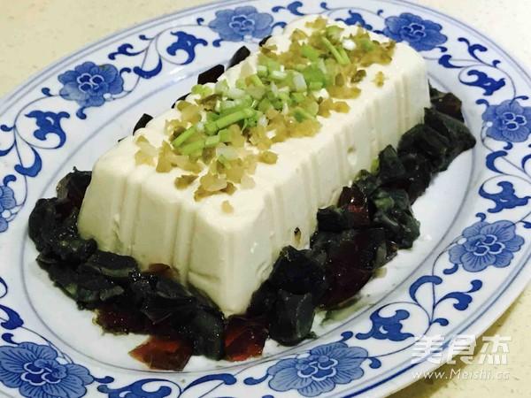 小葱皮蛋豆腐怎么做
