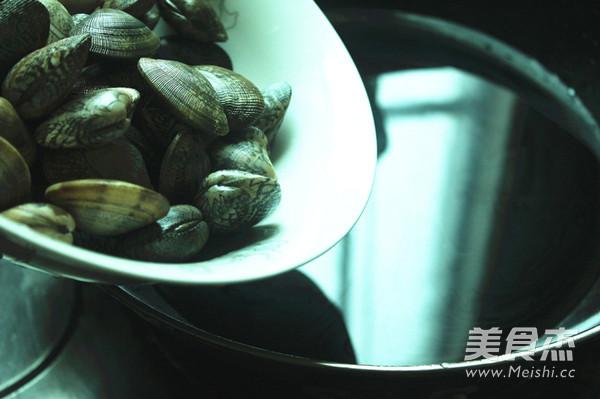 醋拌蛤蜊拌饭的做法图解