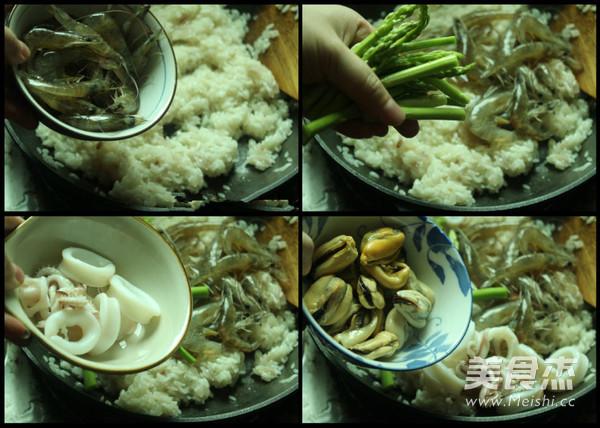 海鲜芦笋烩饭怎样煮