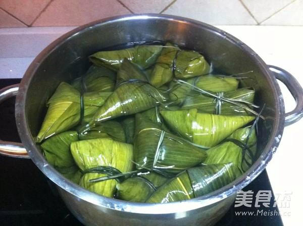 红枣豇豆肉粽的制作
