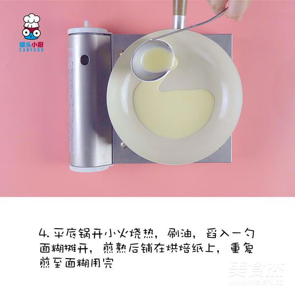 平底锅榴莲千层蛋糕的简单做法