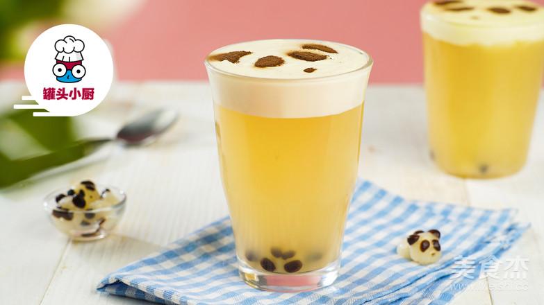 DIY熊猫珍珠奶盖茶成品图