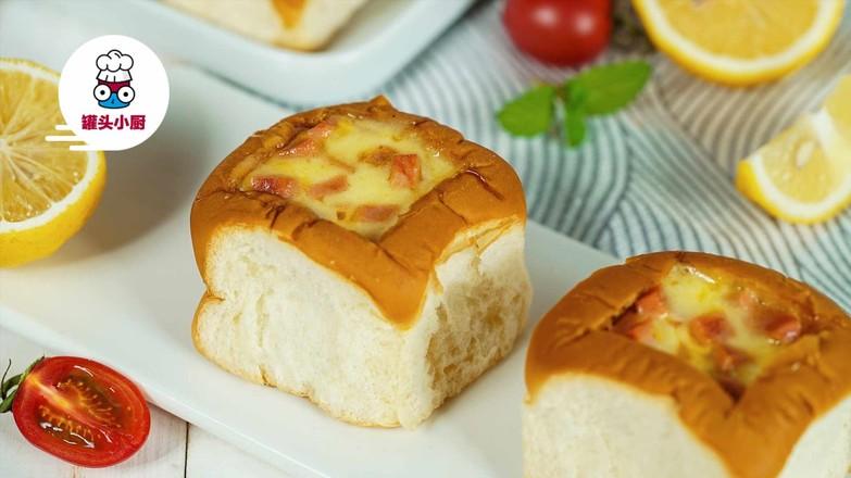 微波炉鸡蛋面包盅怎么做