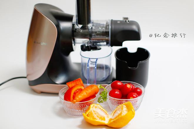 原汁机食谱番茄胡萝卜橘子汁的做法图解