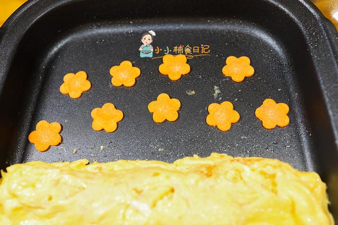 9个月以上辅食胡萝卜花朵厚蛋烧怎么煮