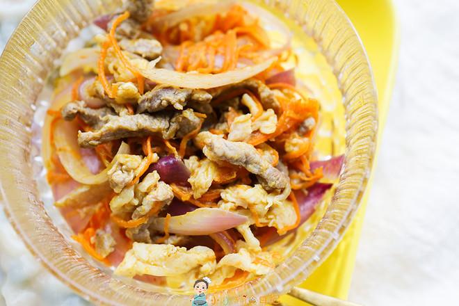 10个月以上辅食洋葱胡萝卜炒牛肉丝怎么炒