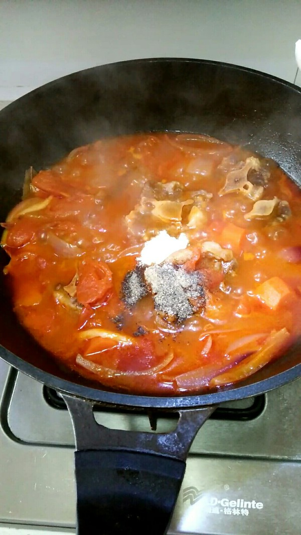 番茄牛尾汤怎么吃