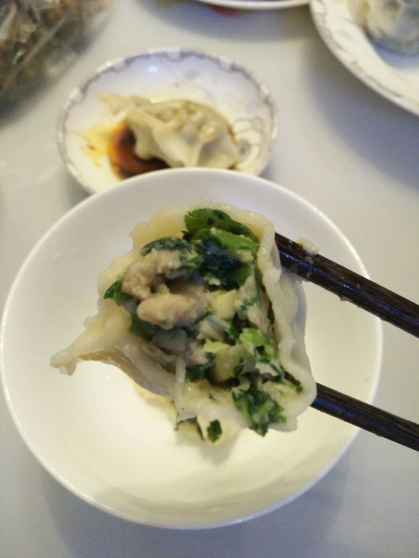 小白菜猪肉水饺的制作方法