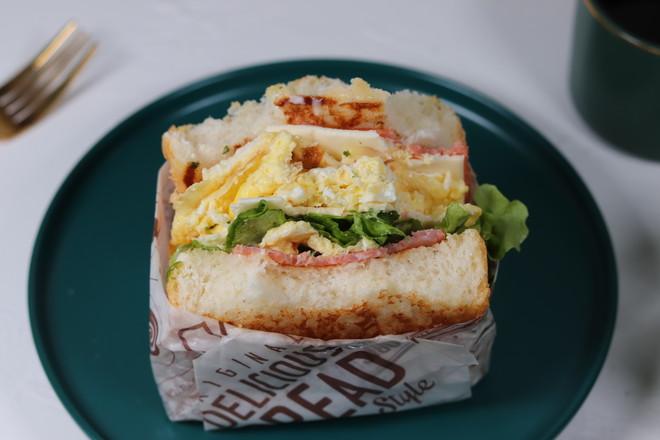 芝士厚蛋烧三明治的做法大全