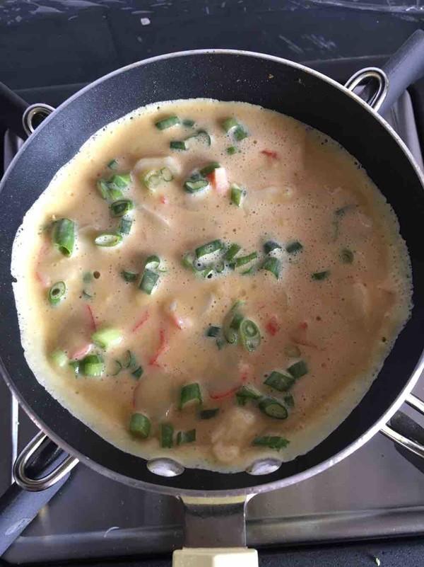 海鲜鸡蛋饼的简单做法
