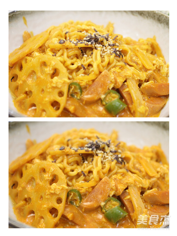 韩国辣火鸡方便面怎么煮