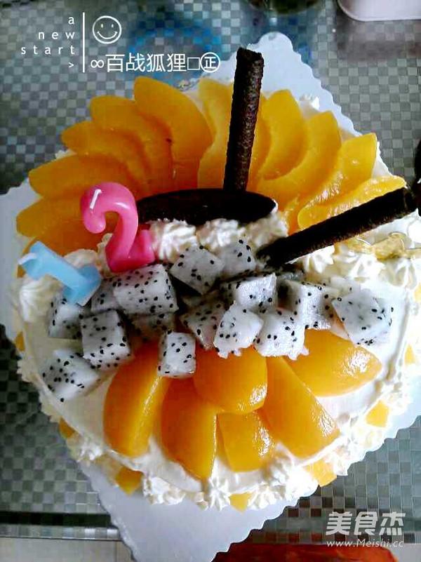水果生日蛋糕怎样炖