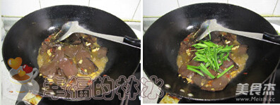 韭菜炒猪血的家常做法