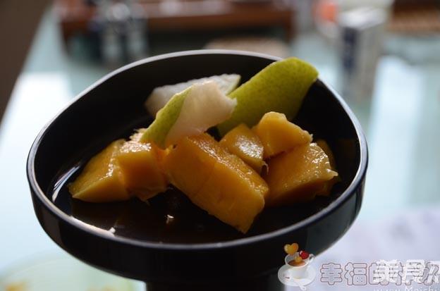 芒果雪梨汁怎么吃
