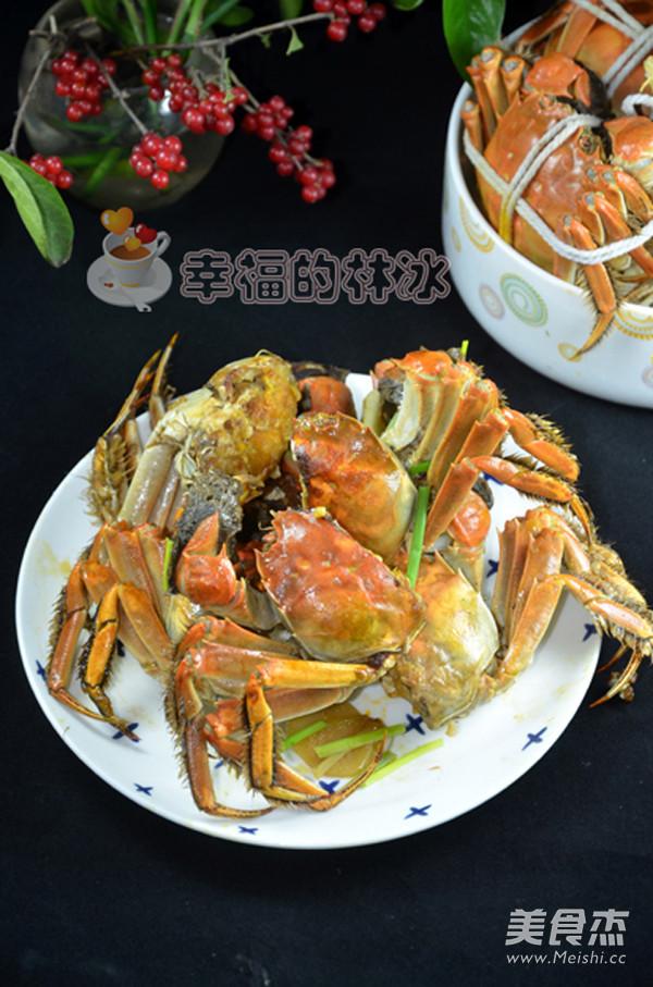 香辣炒蟹成品图