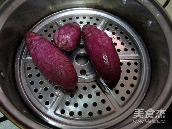 紫薯糯米球的做法大全