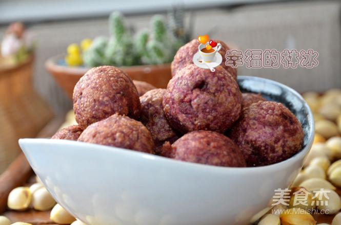 紫薯糯米球成品图