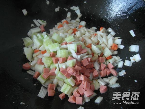 五彩炒饭怎么吃