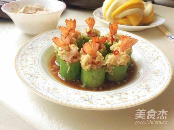 丝瓜蒸虾盅成品图