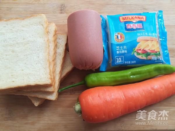 百变大眼怪三明治的做法大全