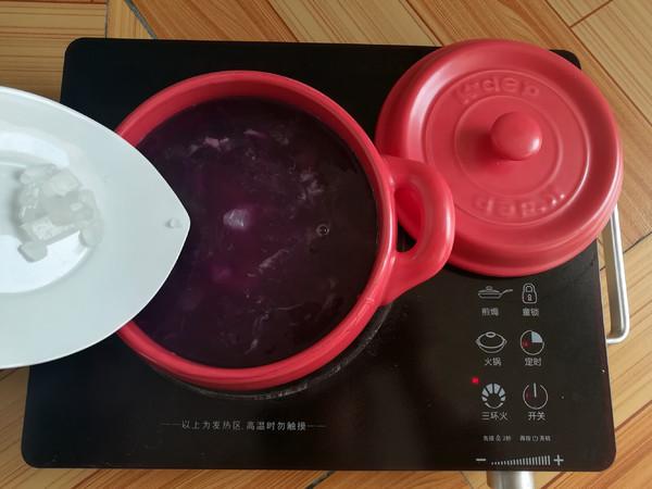 紫薯银耳糖水怎样做