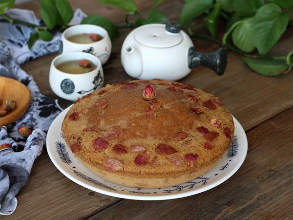 玫瑰红糖马拉糕成品图