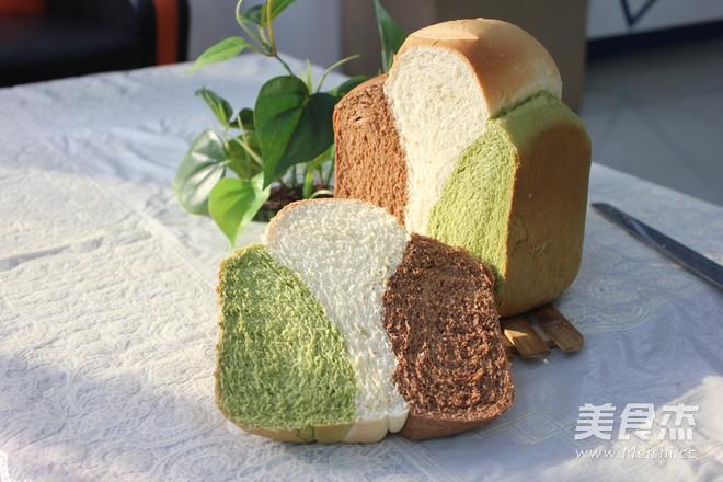 三色面包的制作