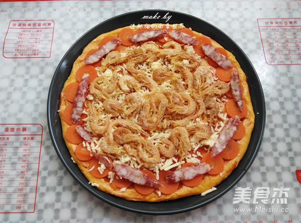 南瓜干虾健康披萨怎样做