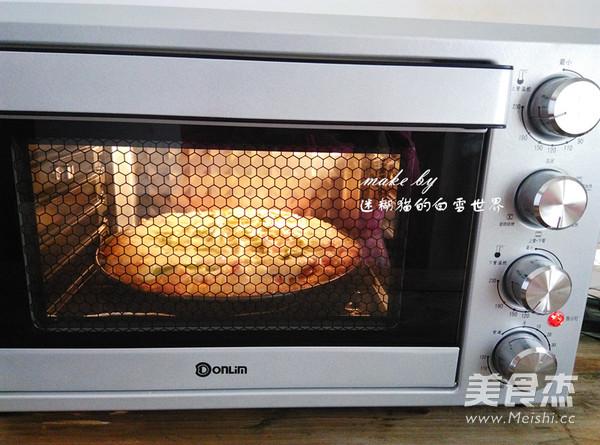南瓜干虾健康披萨的制作