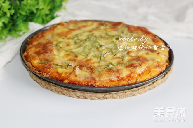 南瓜干虾健康披萨的制作方法