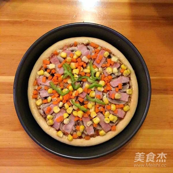 培根口蘑田园披萨的制作大全