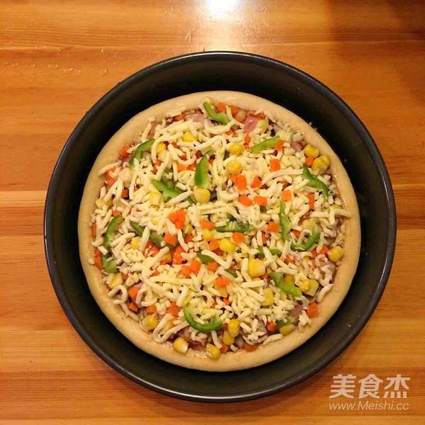 培根口蘑田园披萨的做法大全