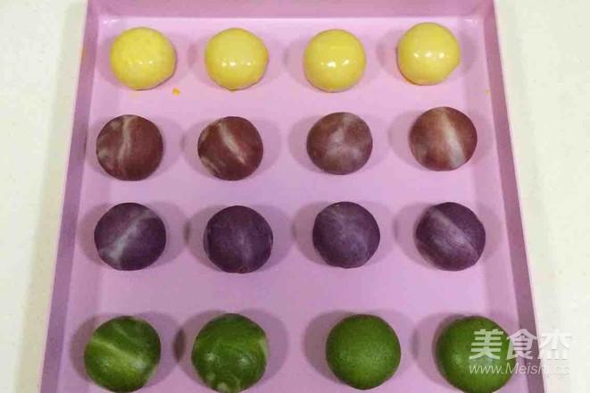 炫彩椰蓉开口酥的制作方法