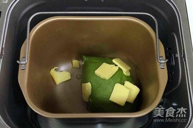 抹茶麻薯夹心软欧的做法图解