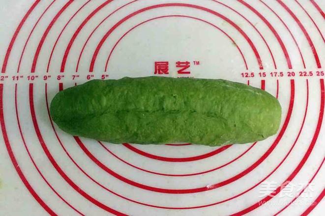 抹茶麻薯夹心软欧的制作方法