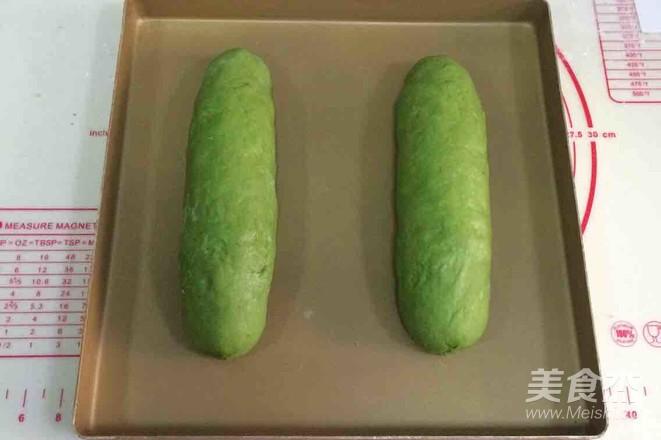 抹茶麻薯夹心软欧的制作大全