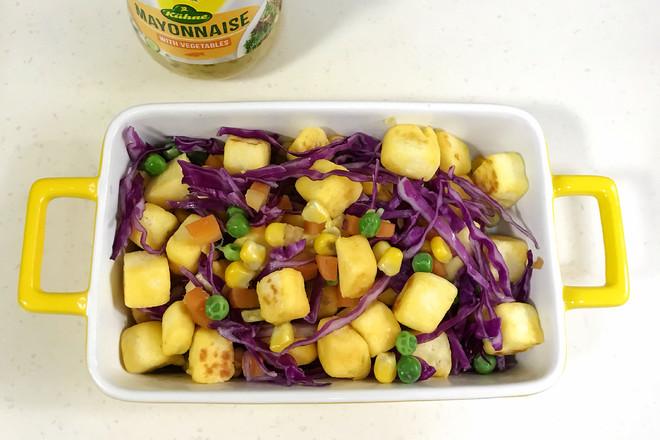 馒头蔬菜什锦沙拉的步骤