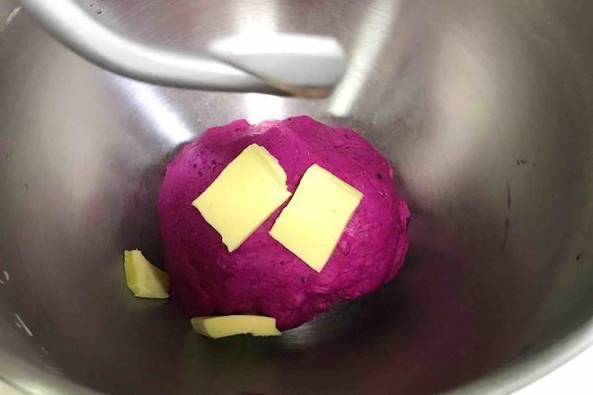 火龙果麻薯面包的做法图解